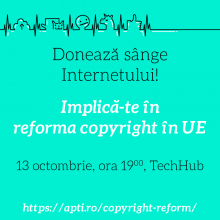 Reforma copyright si implicatii - eveniment 13 octombrie